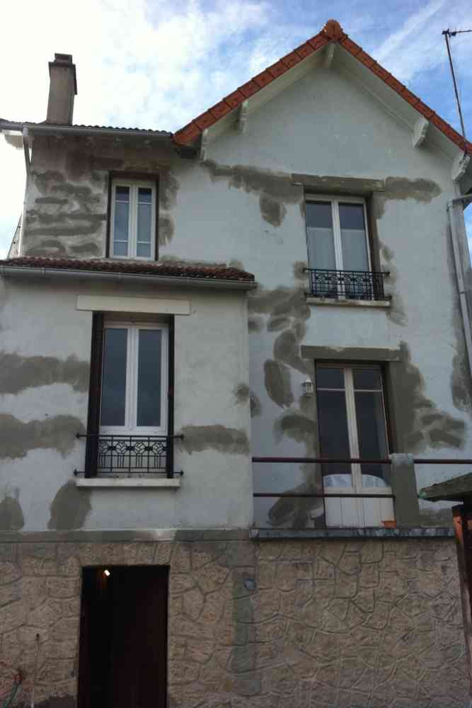 avant la remise en peinture de la maison