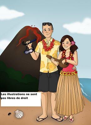 Creation illustration bd couple