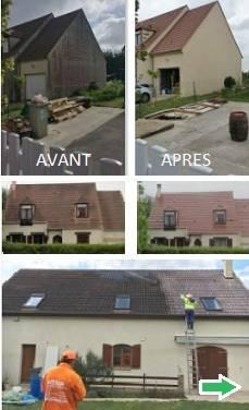 avant et apres nettoyage toiture 77 Seine-et-Marne, demoussage toiture 77