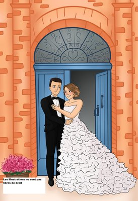 Creation illustration bd mariage